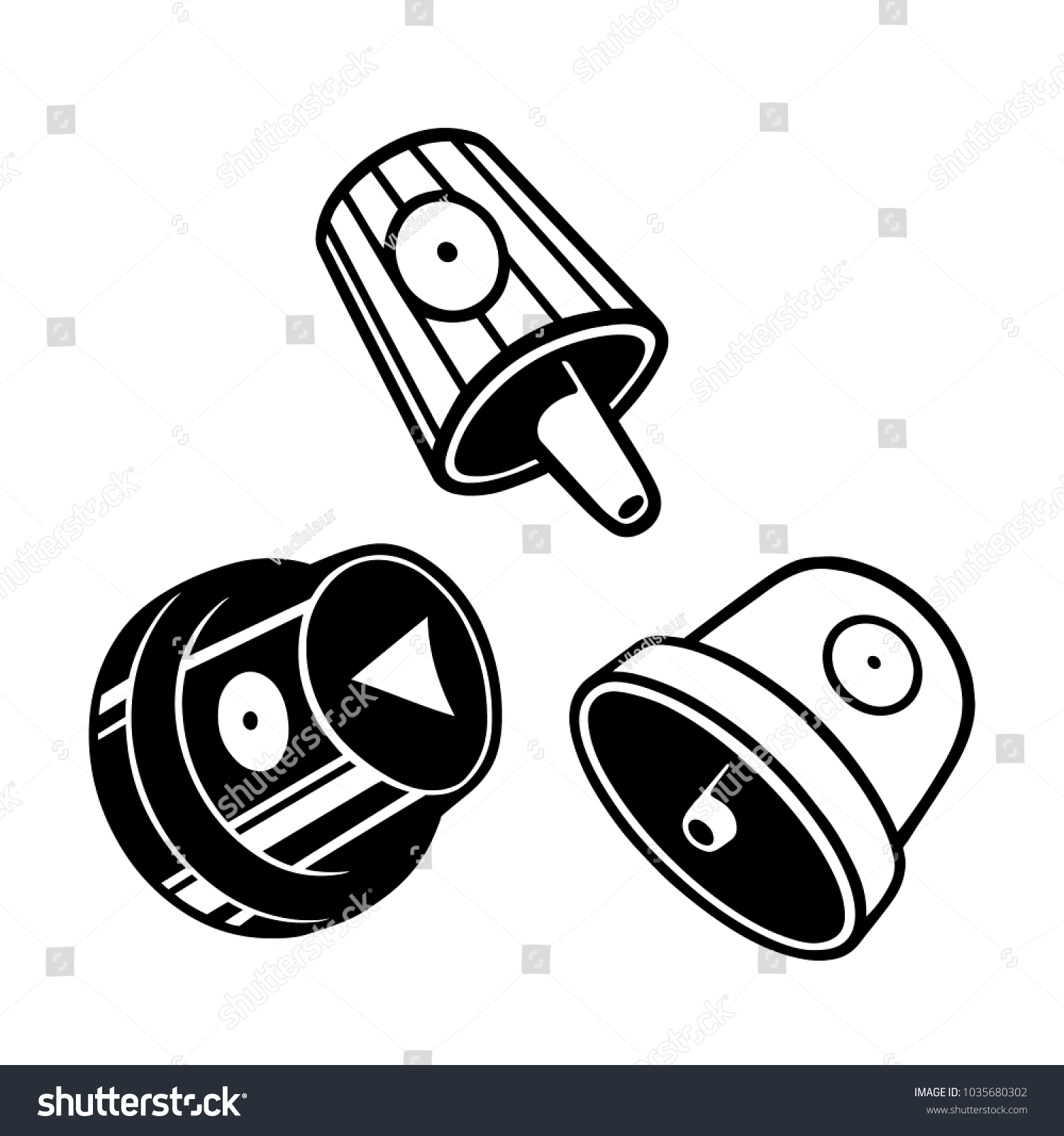 Graffiti Caps Set Spray Can Caps Stock Vector (Royalty Free ... 54620246201