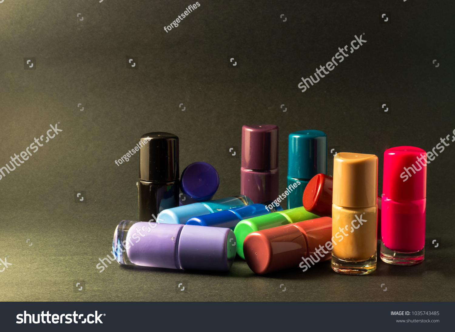 Stack Colorful Pastel Nail Polishes Stock Photo (Edit Now)- Shutterstock