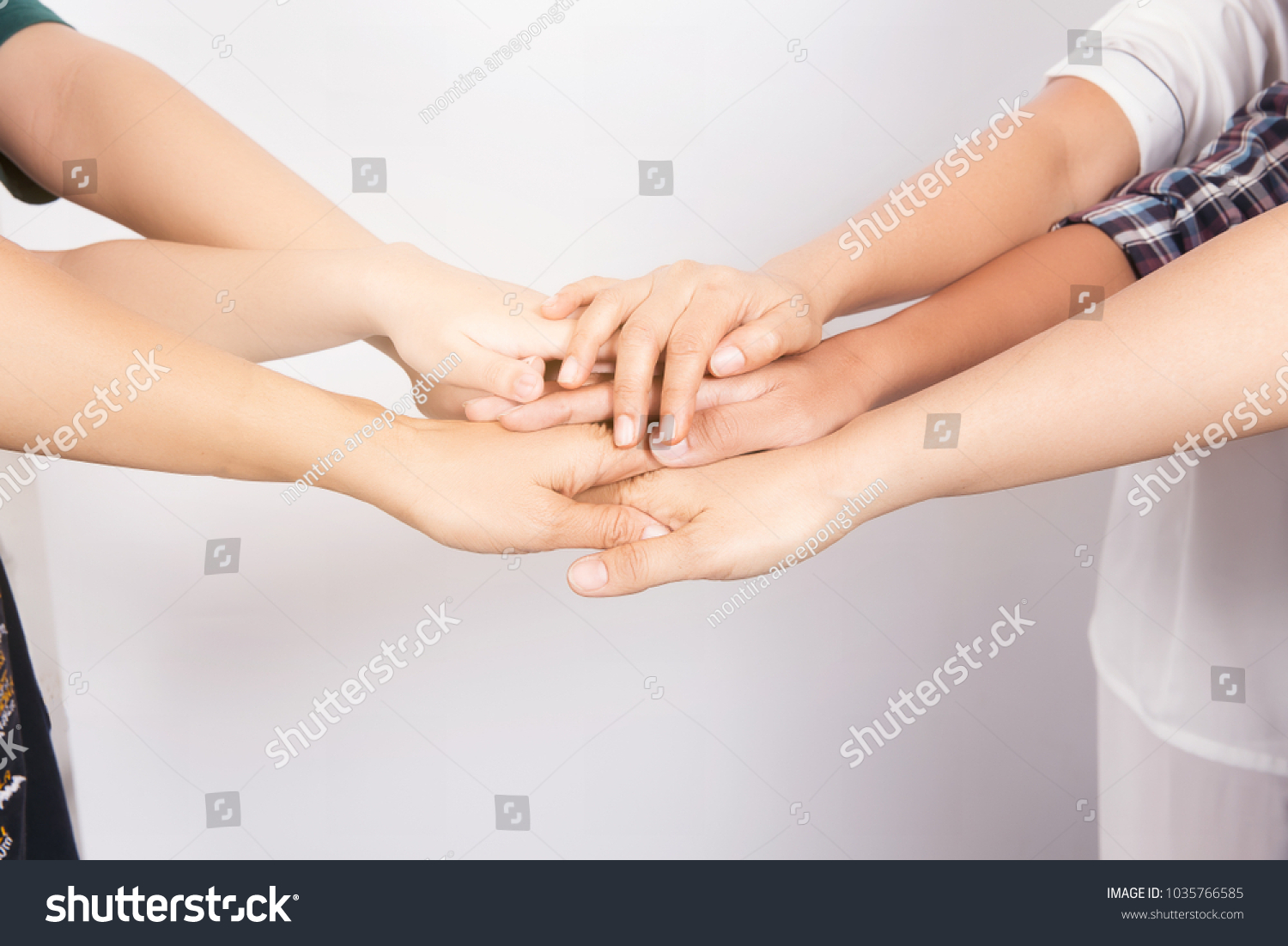 Teamworks Hand Stack Togetherlike Showing Mean Stock Photo Edit Now