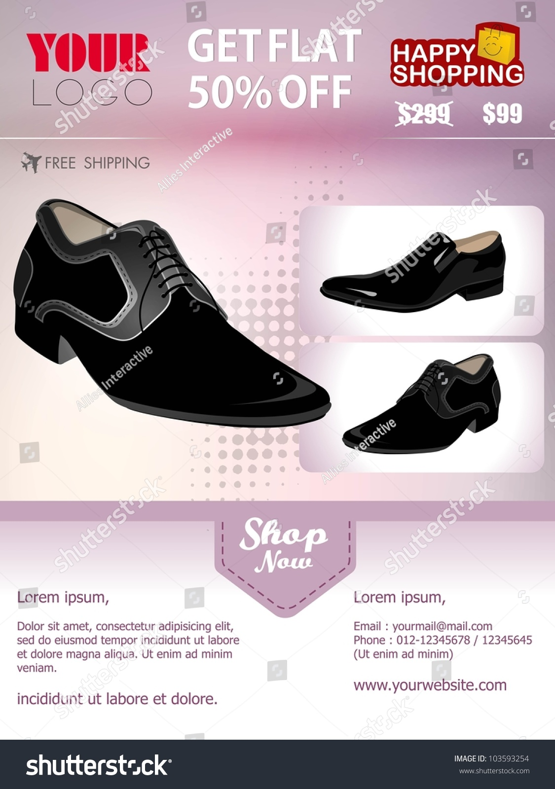 professional product flyer banner template mans stock vector professional product flyer or banner template of man s shoe attractive discount offers for promotion