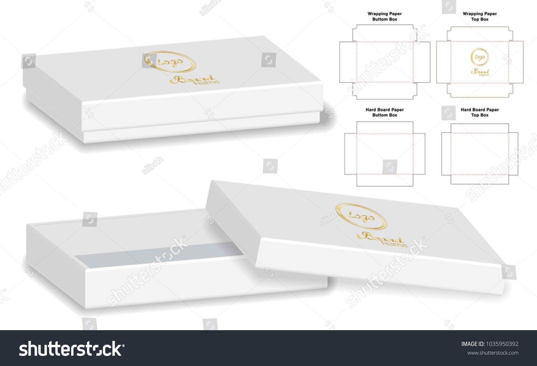 box packaging die cut template design stock vector royalty free
