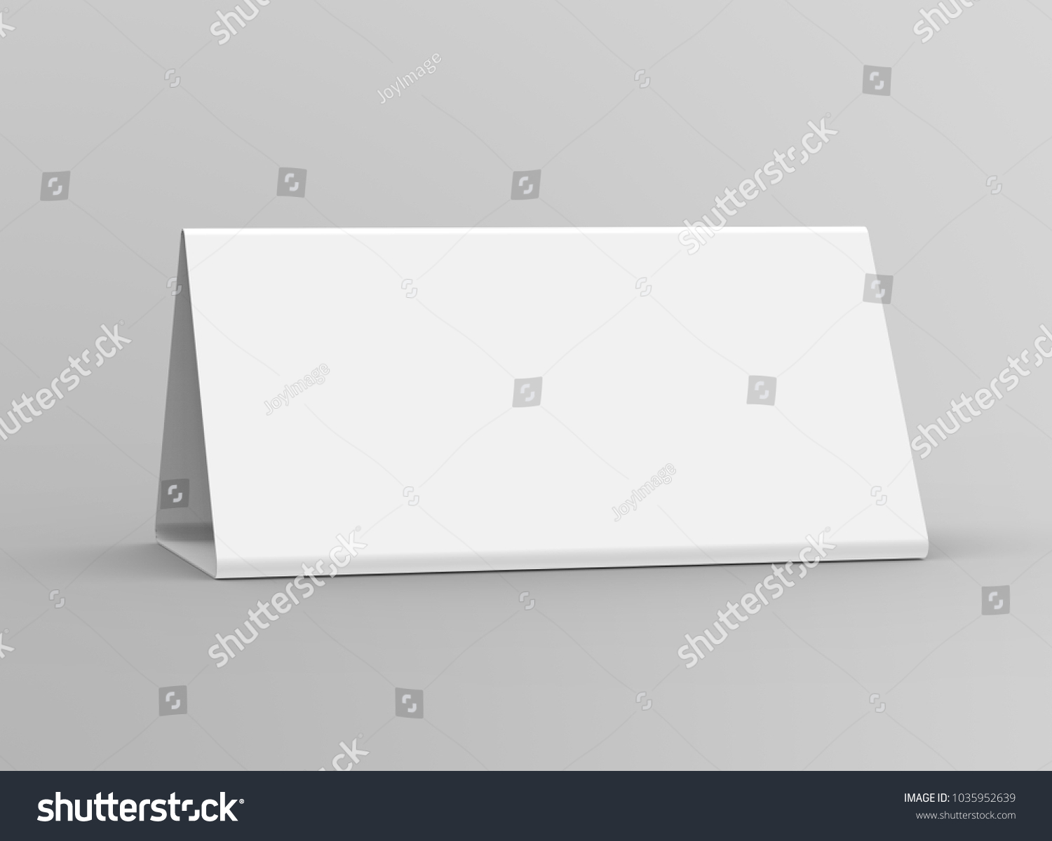 Royalty Free Stock Illustration of Blank Table Tent 3 D Render Table ...