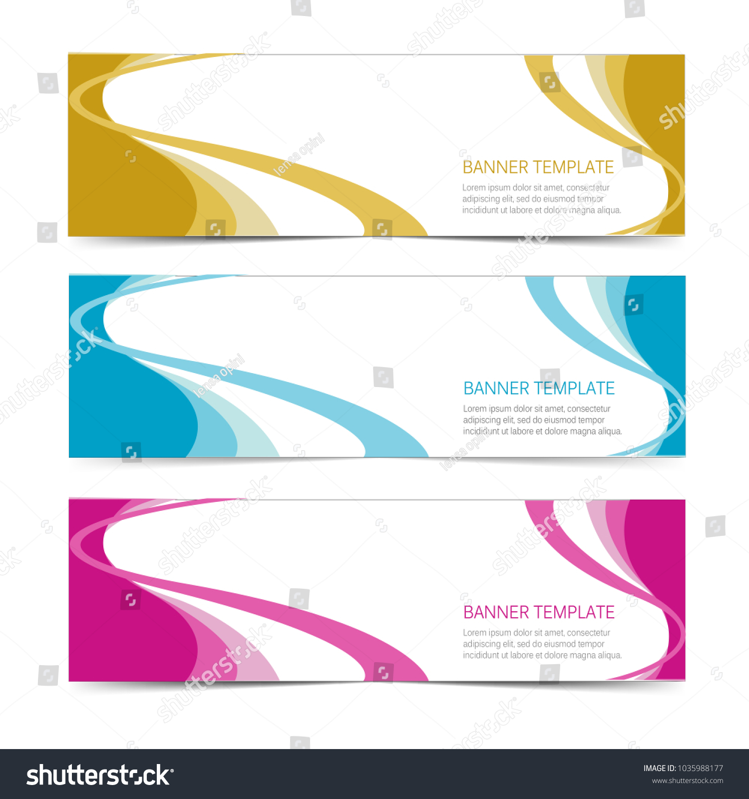 Set Modern Label Banner Sticker Templates Stock Vector (Royalty Free ...
