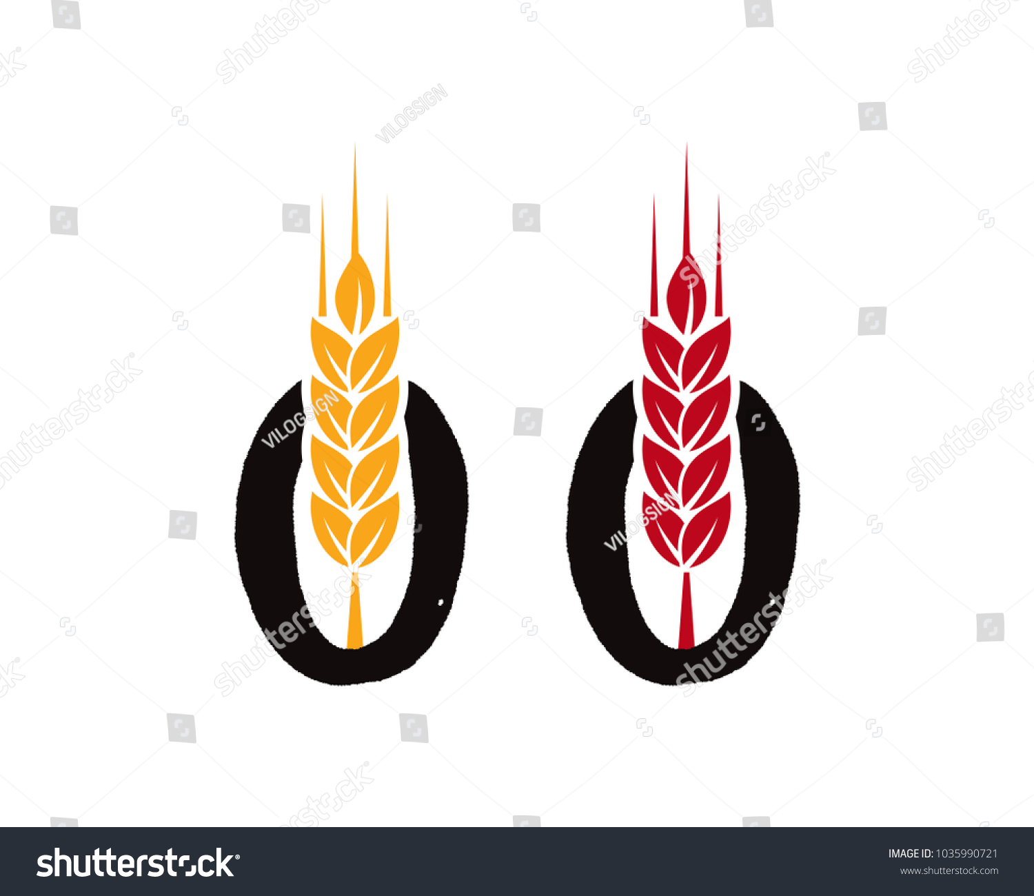 Wheat on initial name letter o stock vector 1035990721 shutterstock wheat on the initial name letter o symbol logo vector biocorpaavc