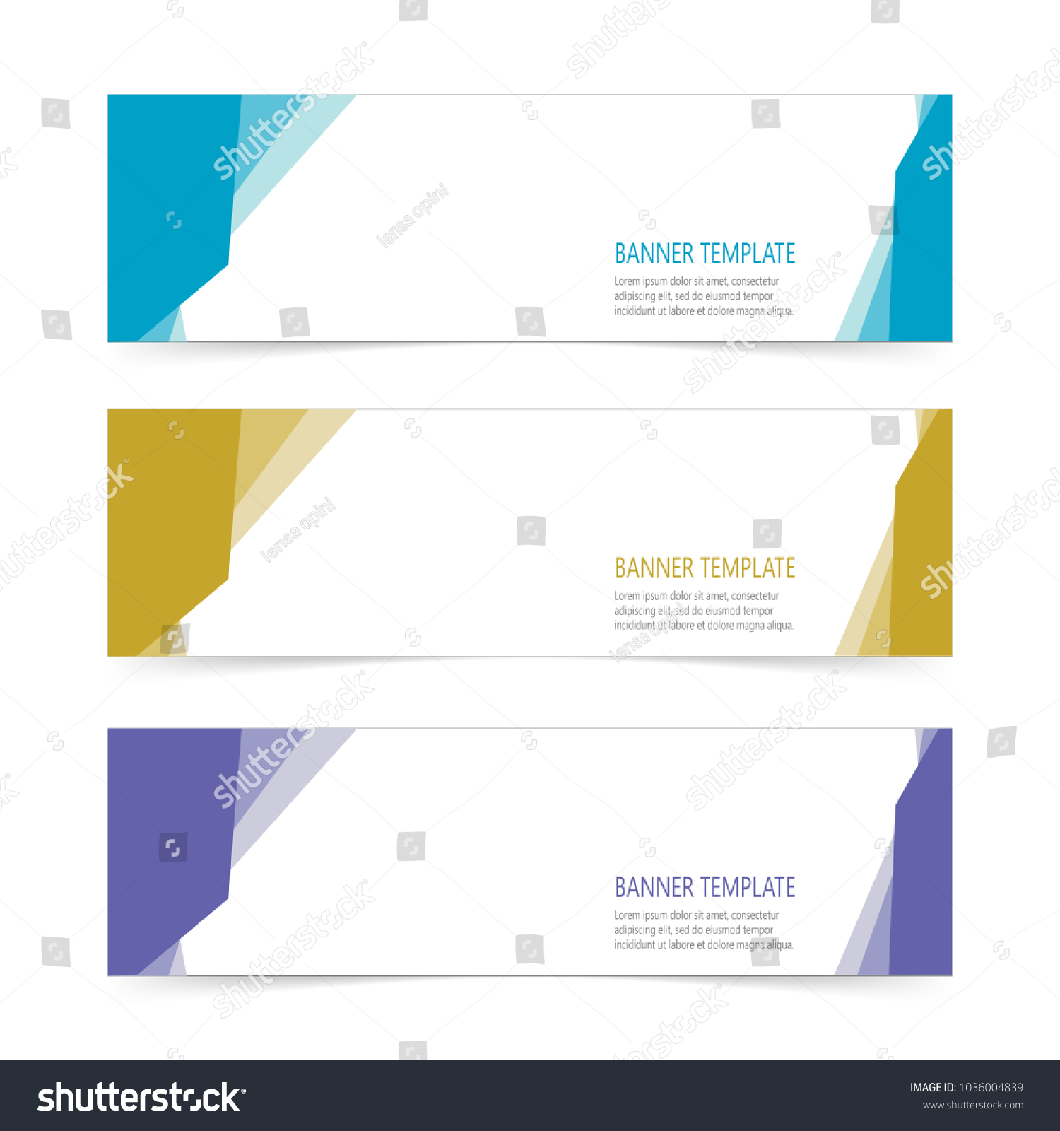 Modern Stylish Label Banner Sticker Templates Stock Vector (Royalty ...
