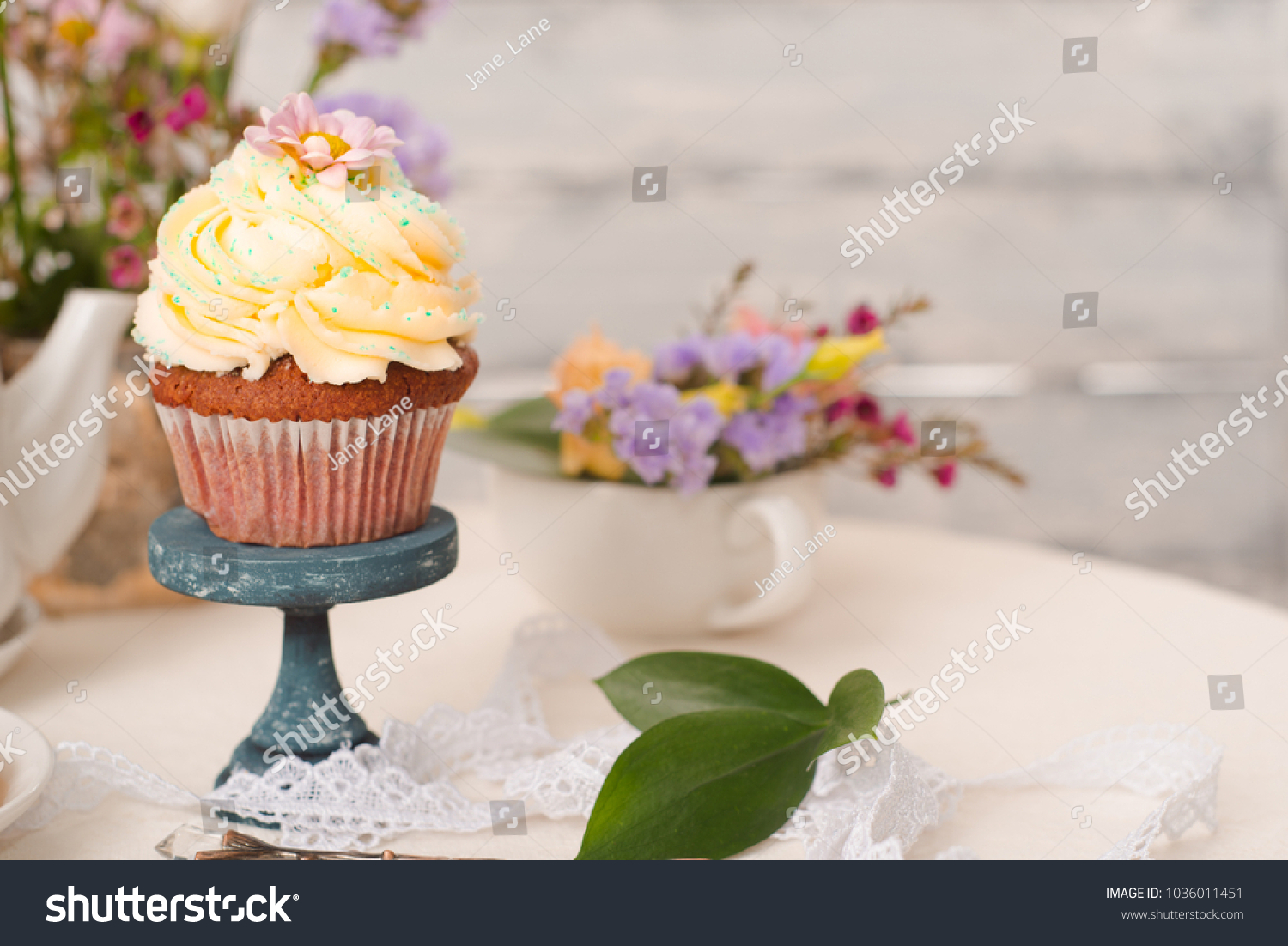 Cup Cakes Cream Cheese Topping On Stock Photo Edit Now 1036011451
