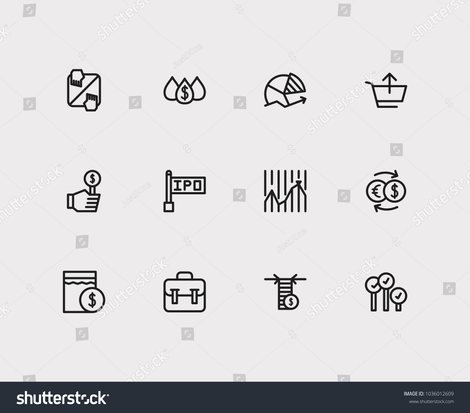 Stock Market Chart Vector Bicolor Rounded Icon Image Style Is A Flat Symbol Inside