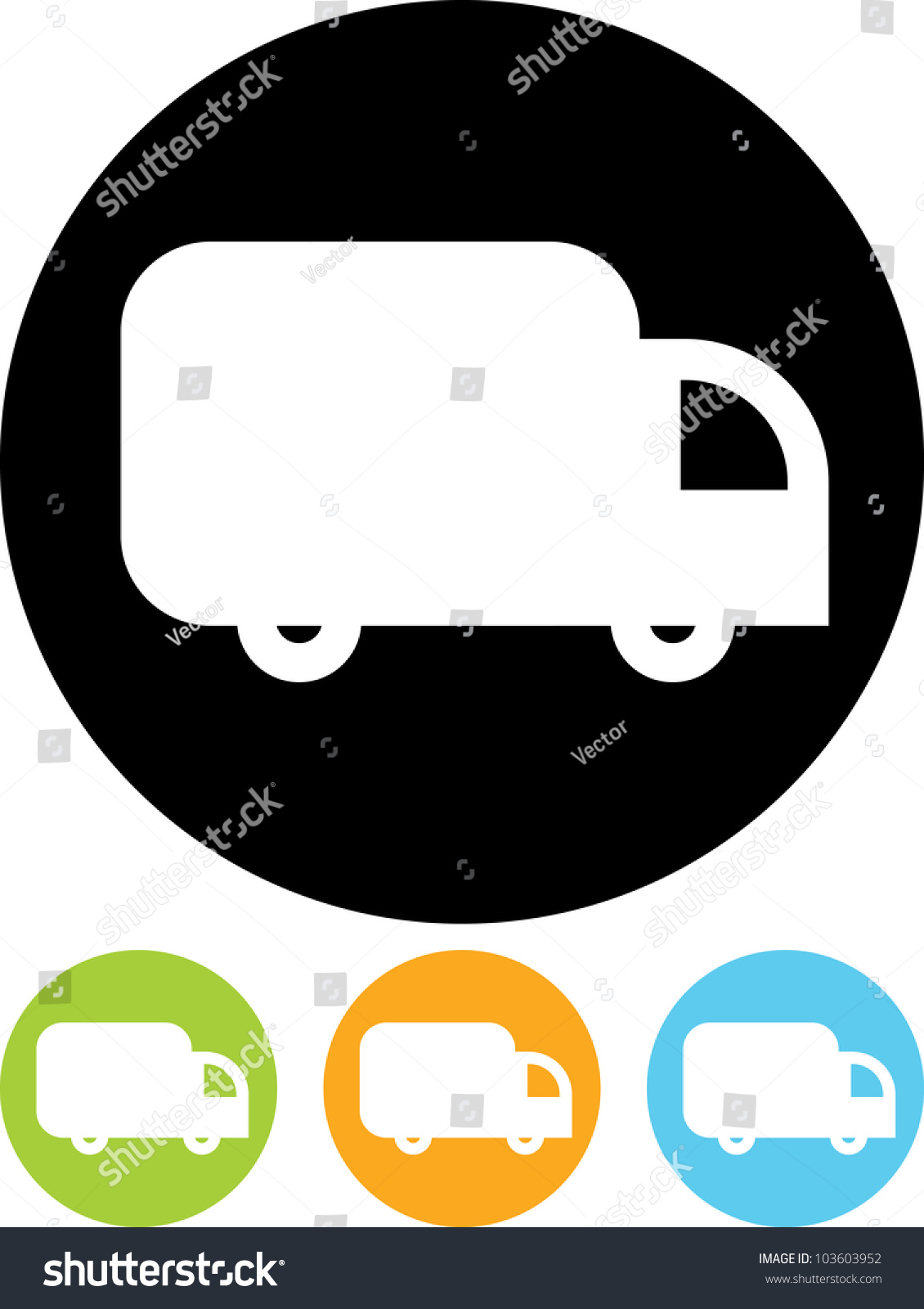 delivery truck icon vector - photo #37