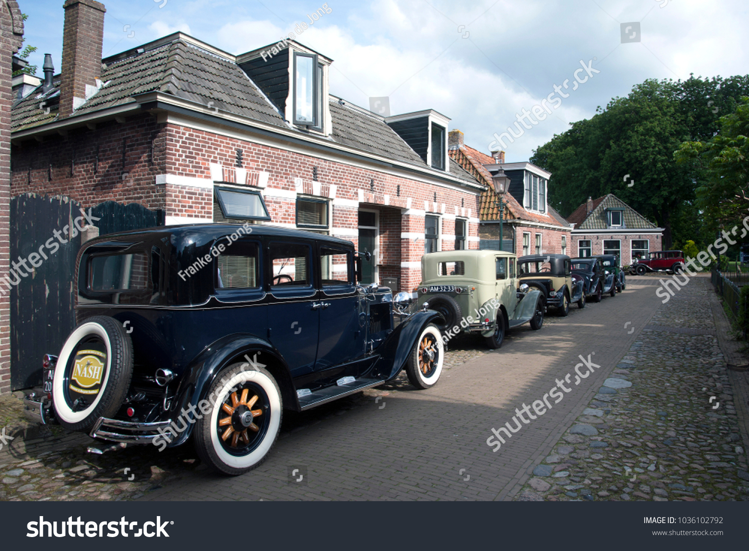 Nostalgia Country Old Timer Cars Parking Stock Photo (Royalty Free ...