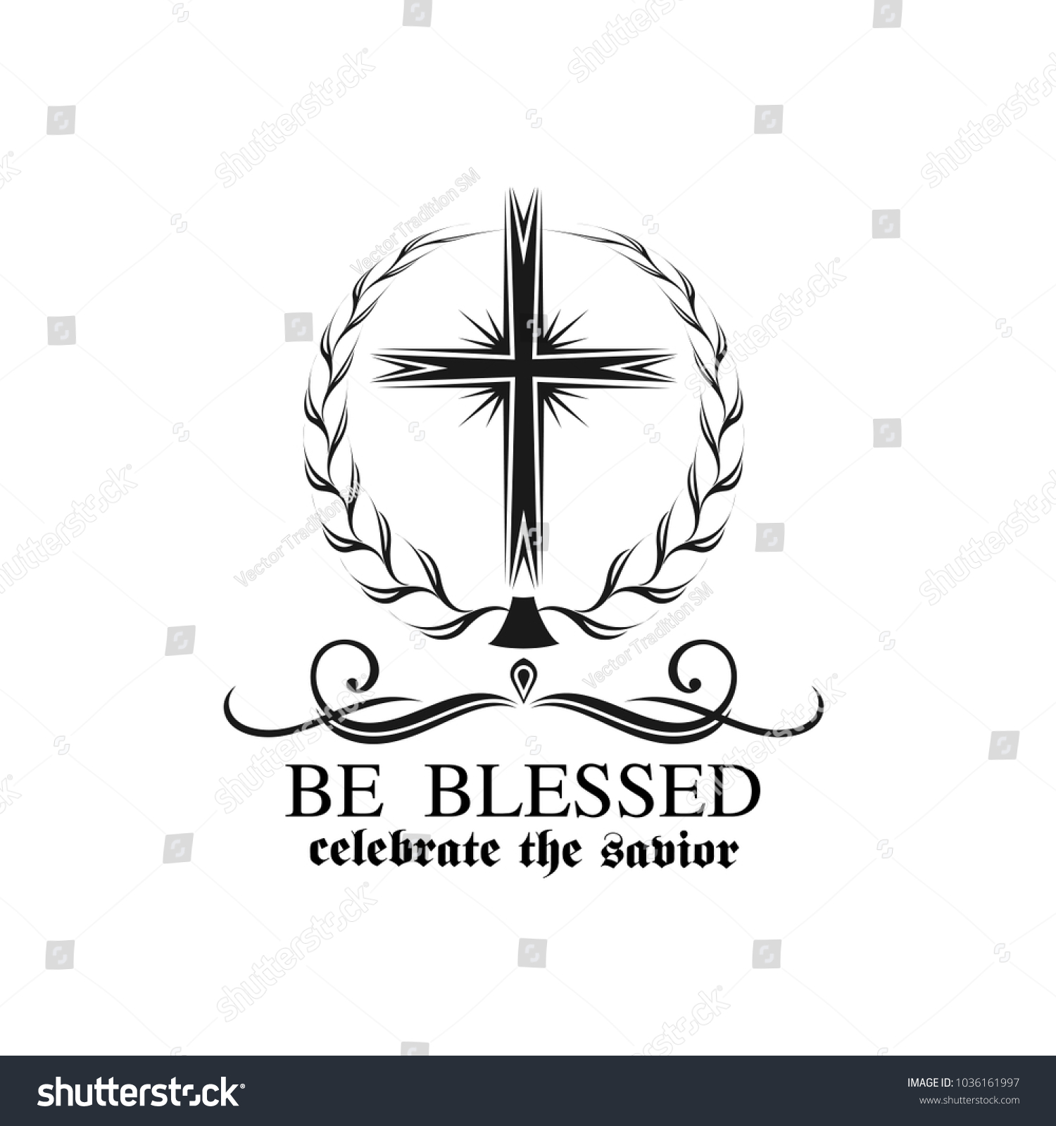 Happy easter crucifix cross icon resurrection stock vector happy easter crucifix cross icon for resurrection sunday greeting card design vector isolated symbol for buycottarizona Images