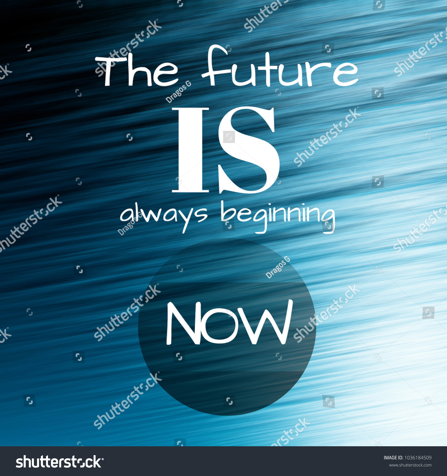 Perfect Future Always Beginning Now Inspirational Quote Stock Illustration  1036184509   Shutterstock