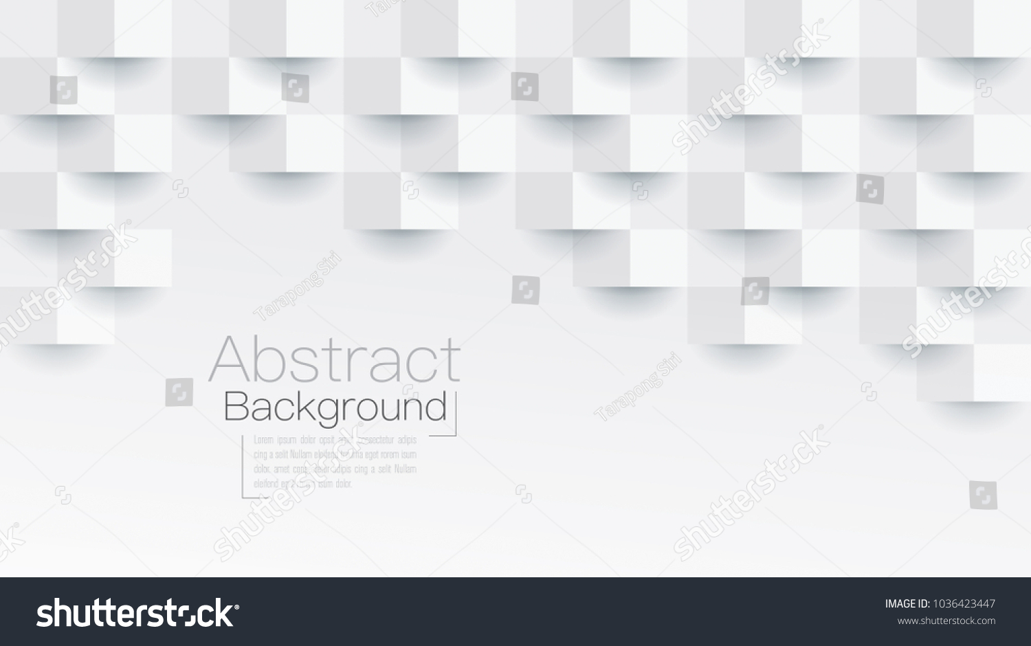 White abstract texture. Vector background 3d paper art style can be used in cover design, book design, poster, flyer, cd cover, website backgrounds or advertising. #1036423447