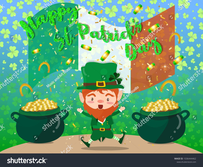 Happy Saint Patricks Day Festival Irish Stock Vector 1036444462