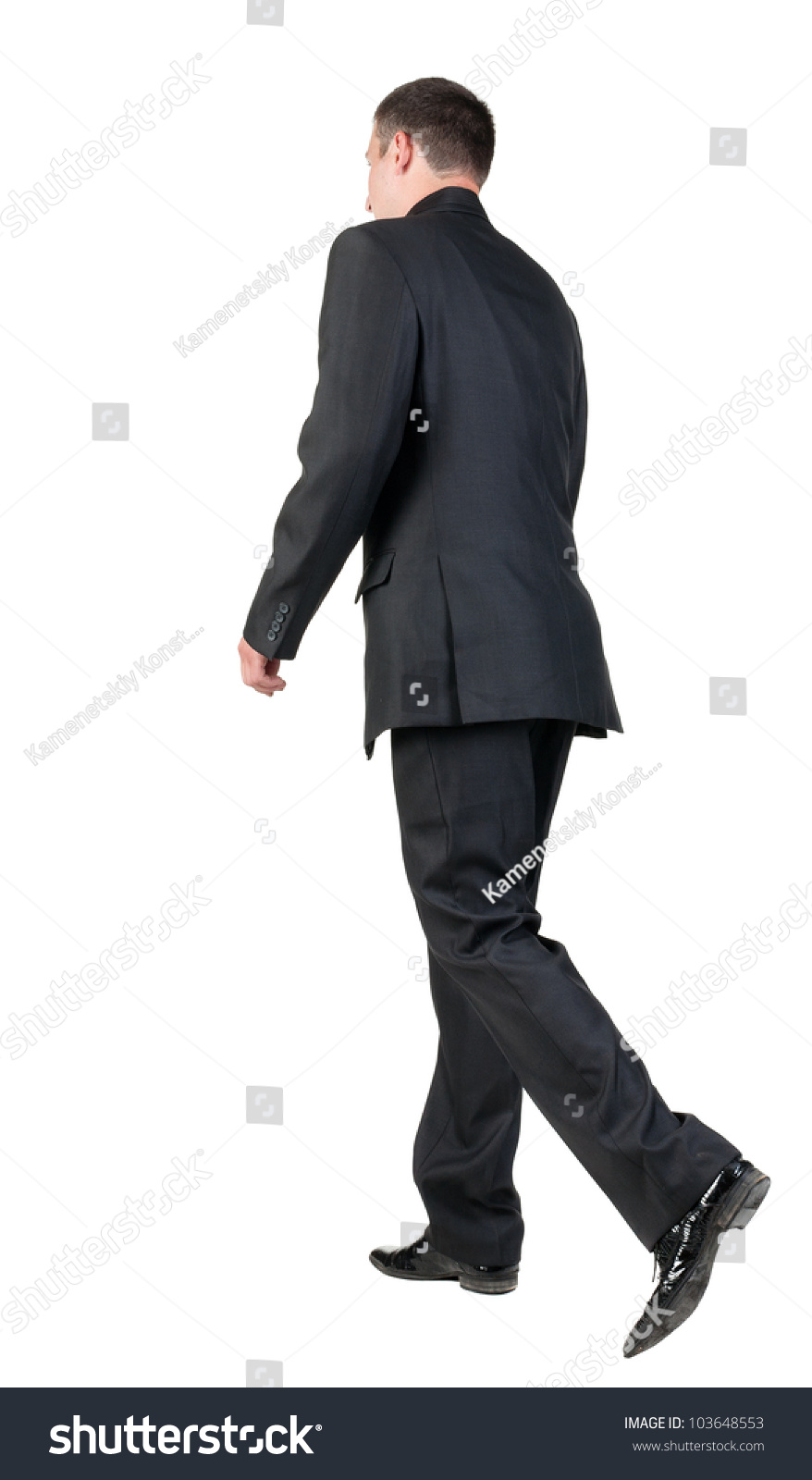 Back View Walking Business Man Going Stock Photo 103648553 ...