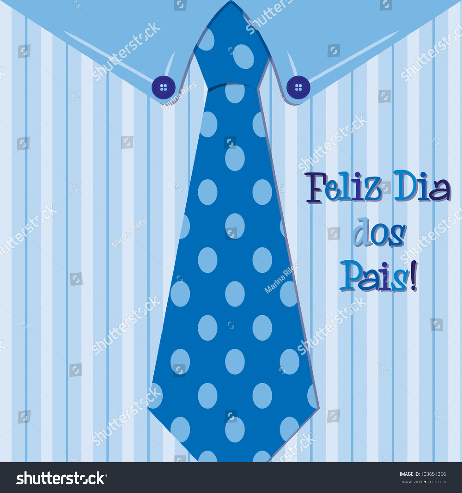 Shirt design card - Bright Shirt And Tie Portuguese Happy Father S Day Neck Tie Card In Vector Format