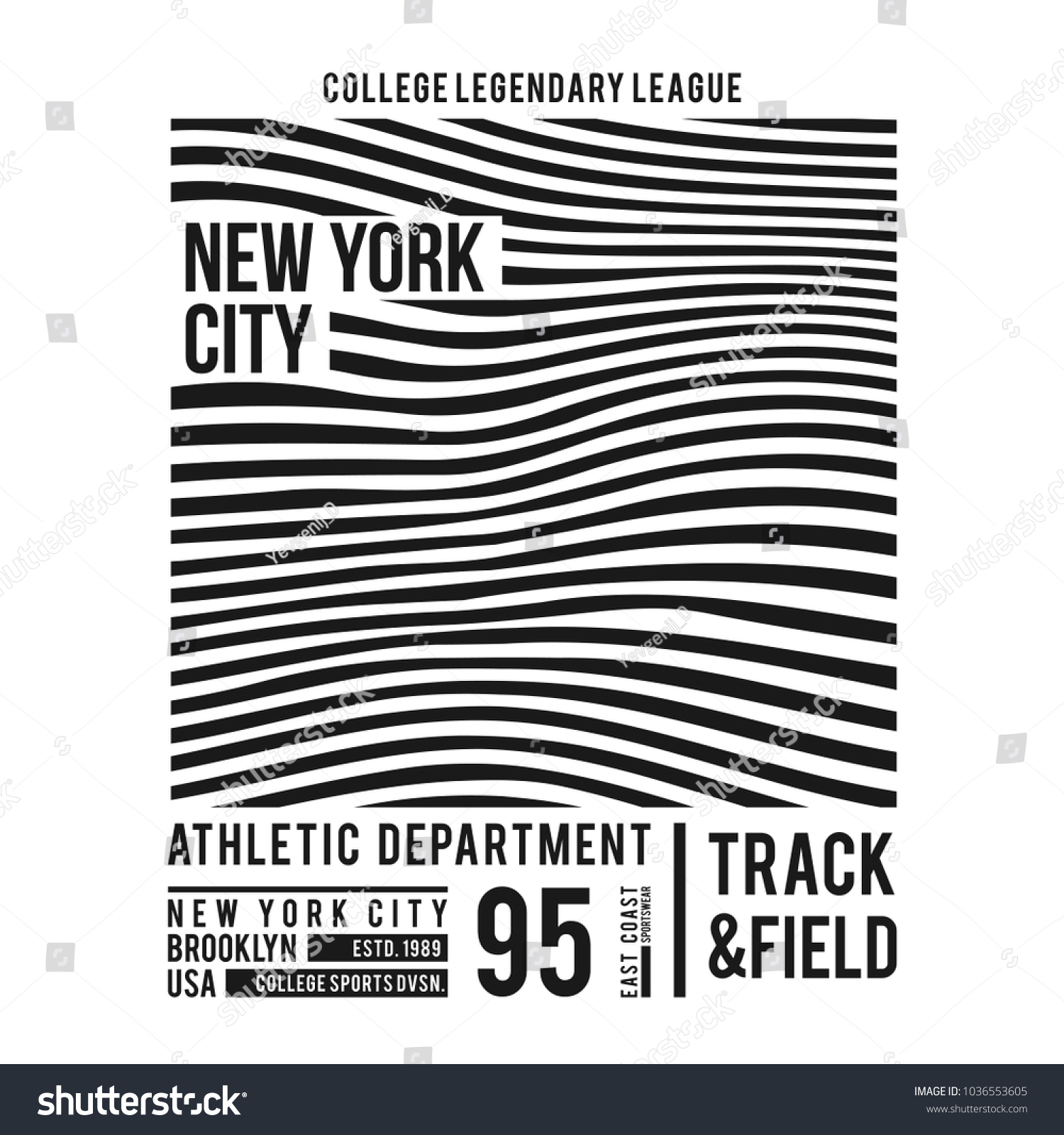 e23a6ade17cb New York typography for t-shirt print. Abstract lines with text for modern  tee