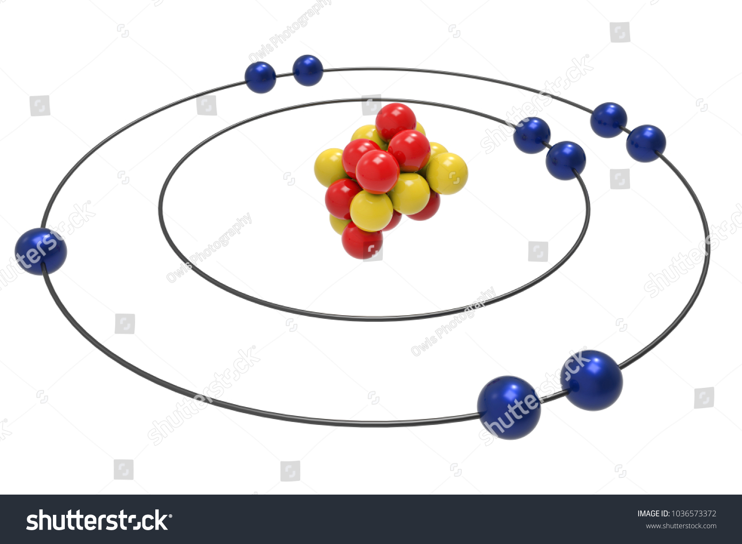 Bohr model fluorine atom proton neutron stock illustration bohr model of fluorine atom with proton neutron and electron science and chemical concept pooptronica Gallery
