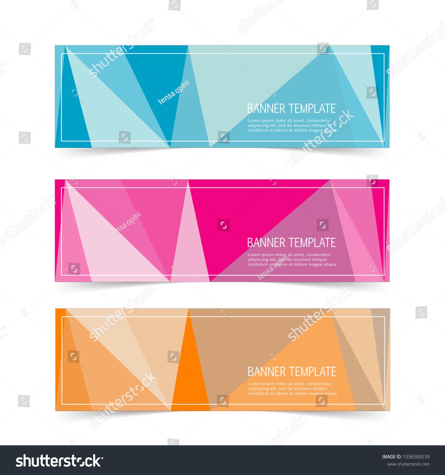 elegant label banner sticker templates set stock vector 1036589239