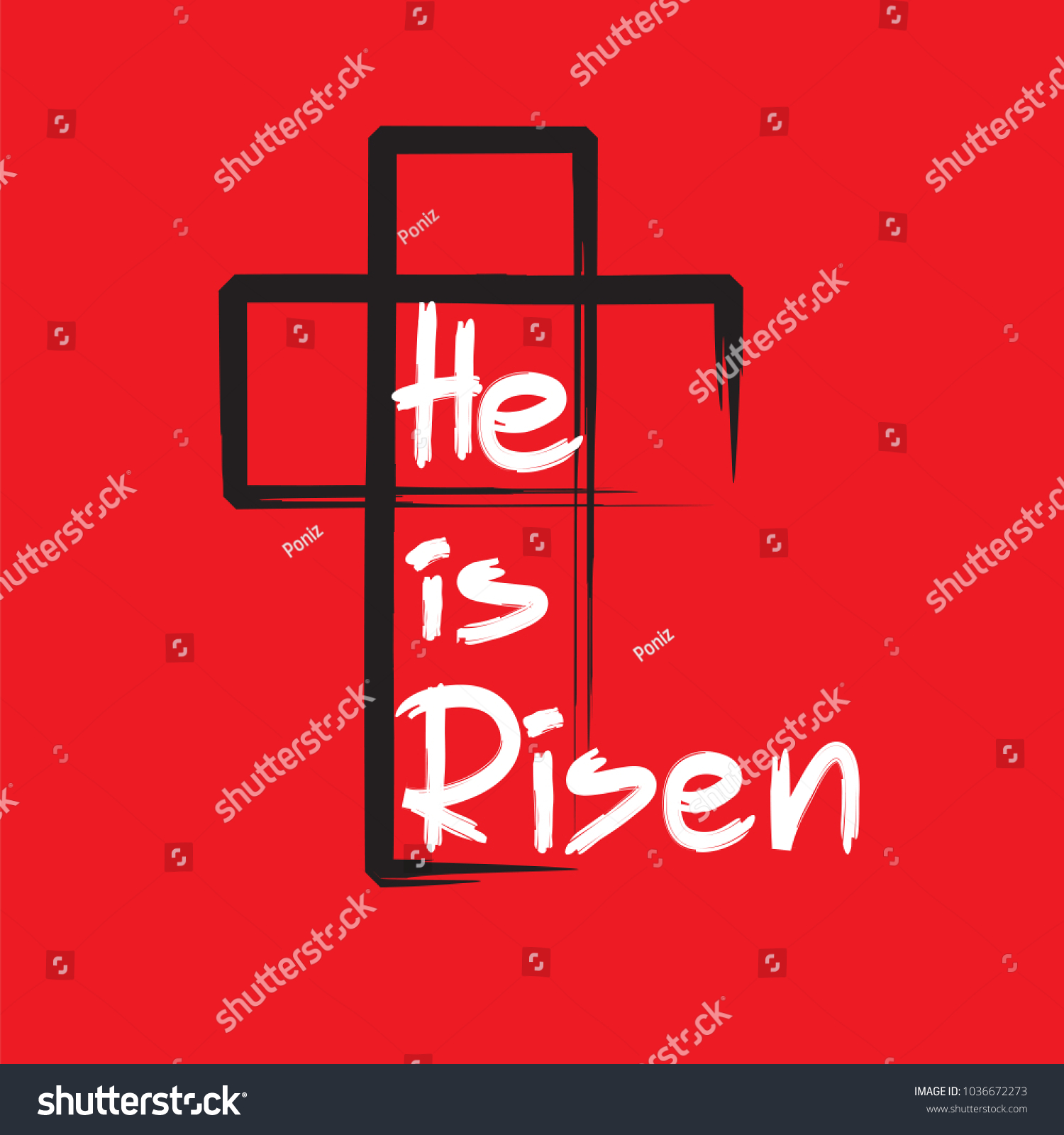He risen motivational quote lettering religious stock vector he is risen motivational quote lettering religious poster print for poster prayer kristyandbryce Images