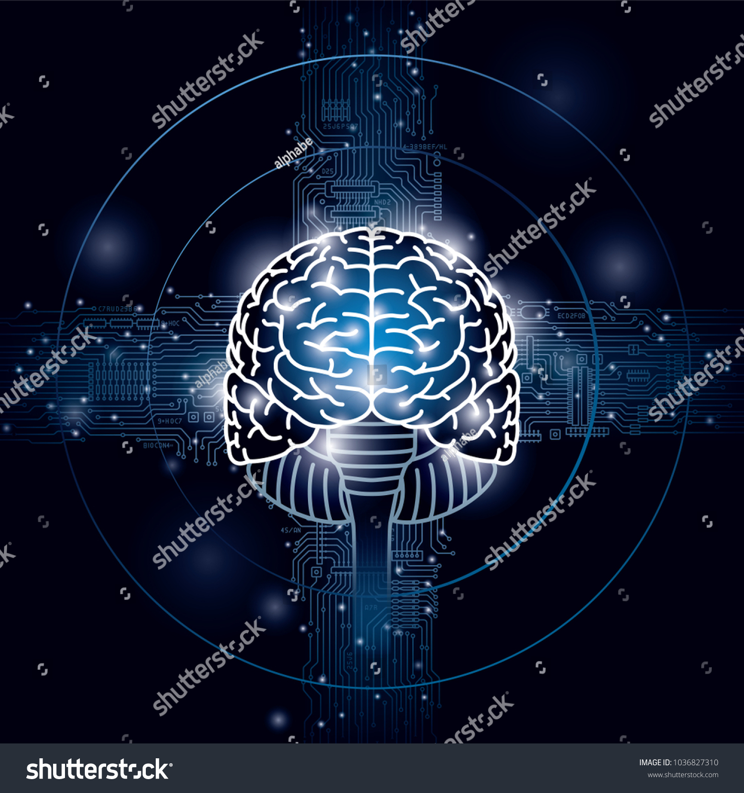 Image Brain Integrated Circuits Stock Vector Royalty Free And Symbol Of