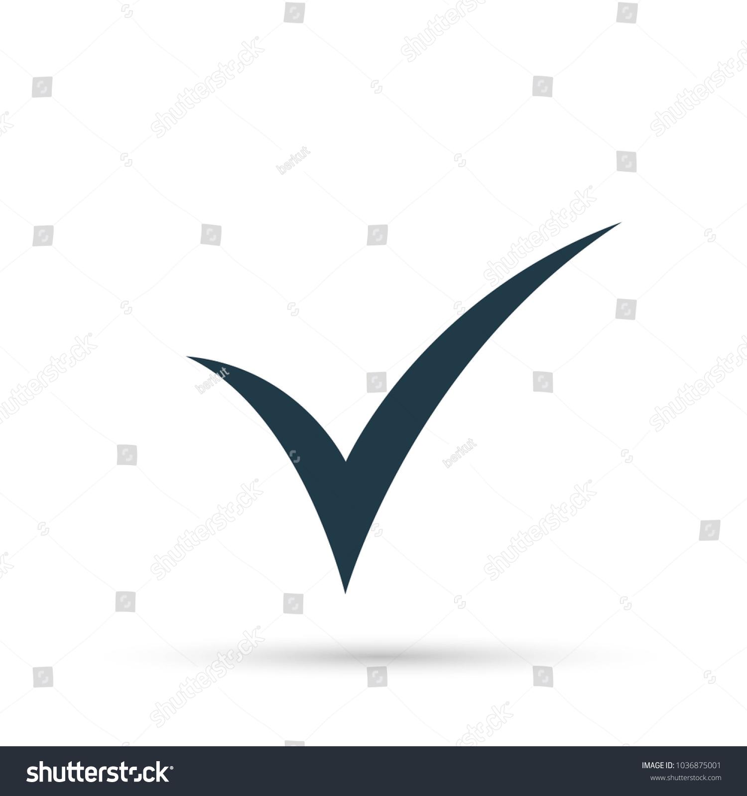 Black check mark icon tick symbol stock vector 1036875001 shutterstock black check mark icon tick symbol in black color biocorpaavc Image collections