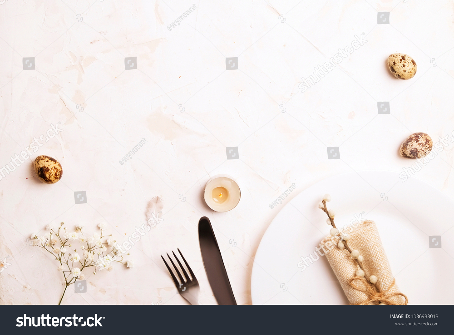 Greeting Card Template Easter Table Setting Stock Photo Edit Now