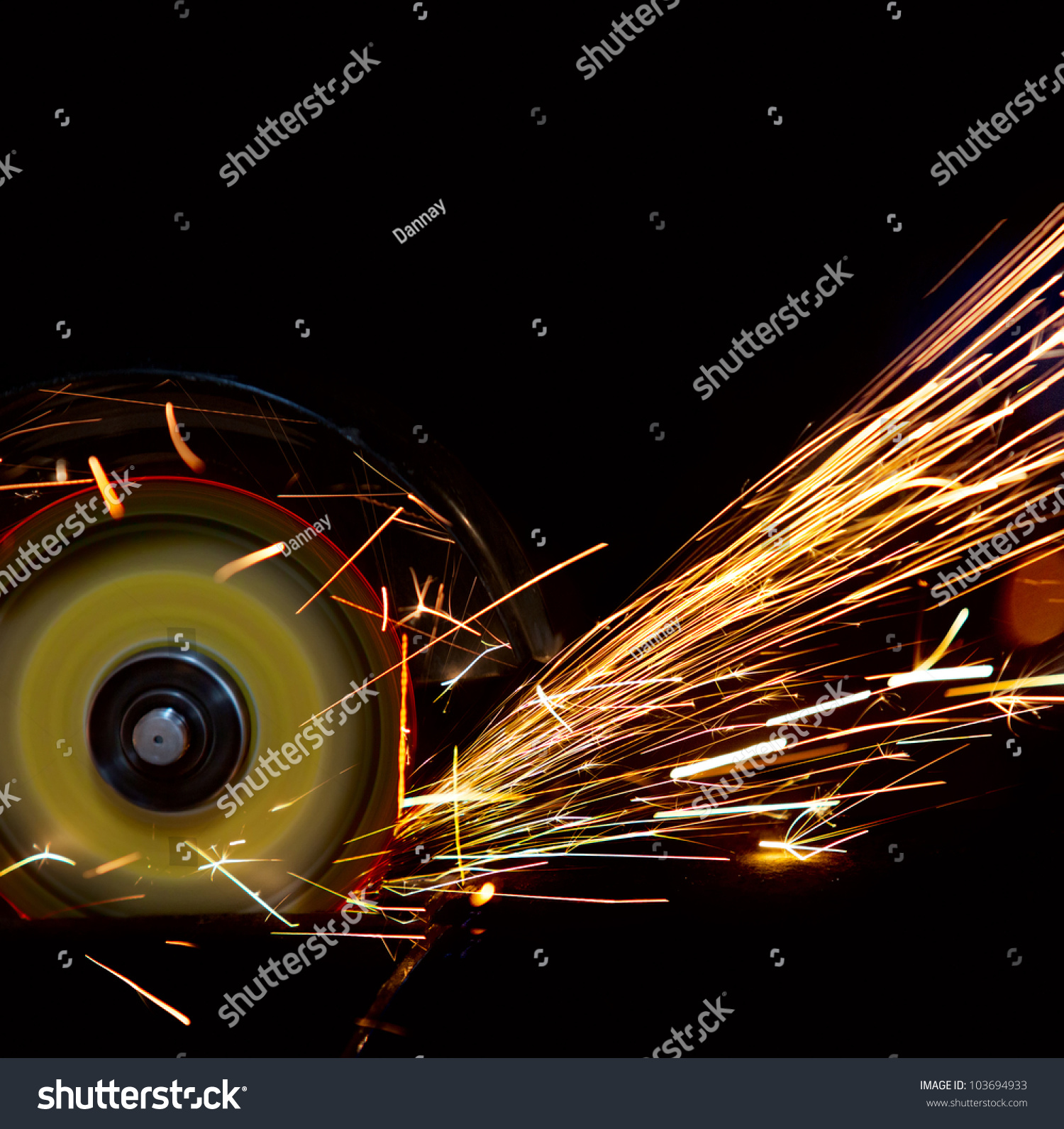 Stock Photo Spark Spray