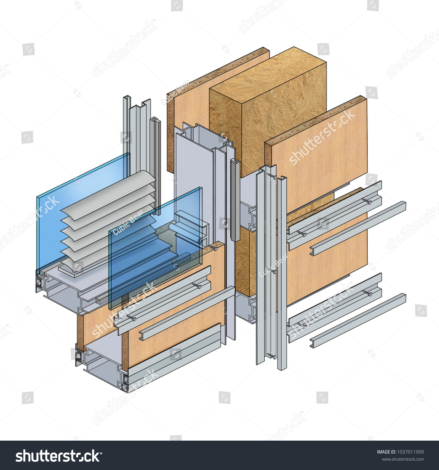 Schematic Representation Wall Section Stock Illustration 1037011909 Of The In A