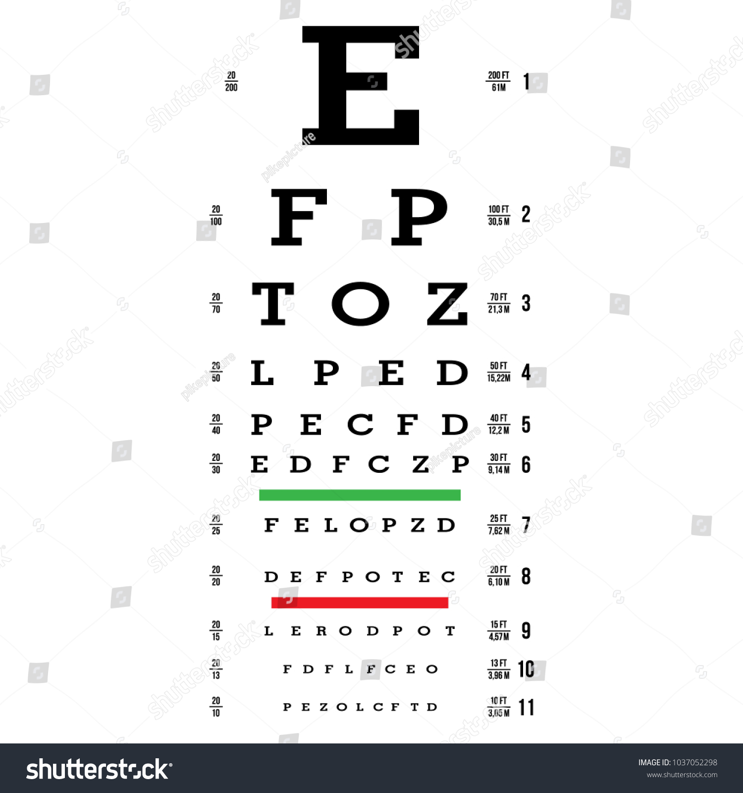 Eye examination charts gallery free any chart examples eye test chart vector letters chart stock vector 1037052298 eye test chart vector letters chart vision nvjuhfo Gallery