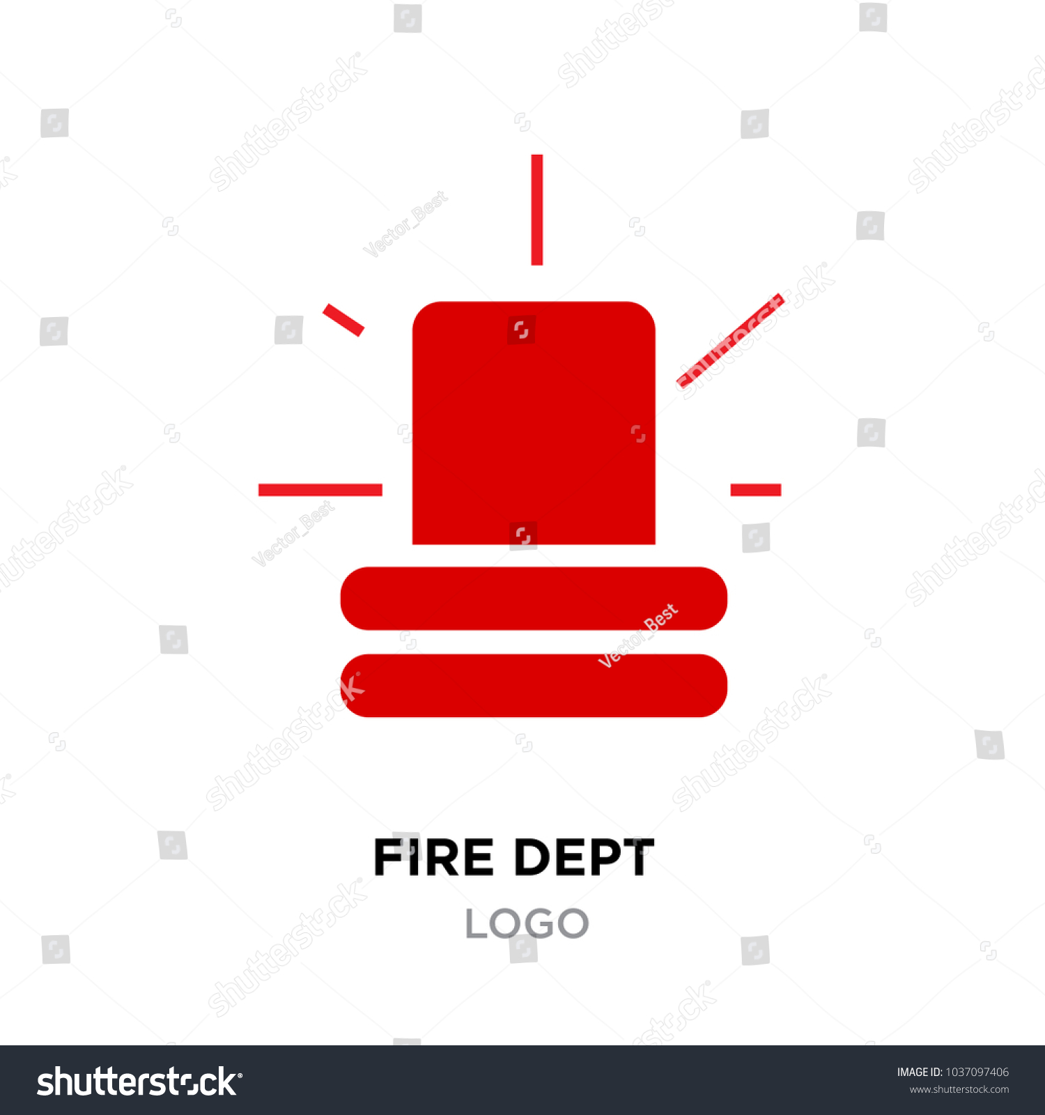 Fire dept logo police red flasher stock vector 1037097406 shutterstock fire dept logo police red flasher siren sign flat style flasher light emergency department buycottarizona Images