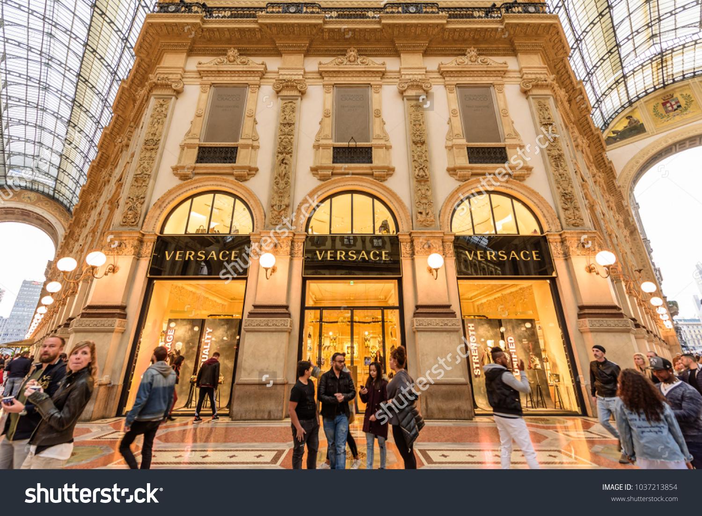 Milan italy october 30 2017 versace stock photo 1037213854 milan italy october 30 2017 versace boutique in the galleria vittorio emanuele biocorpaavc Gallery