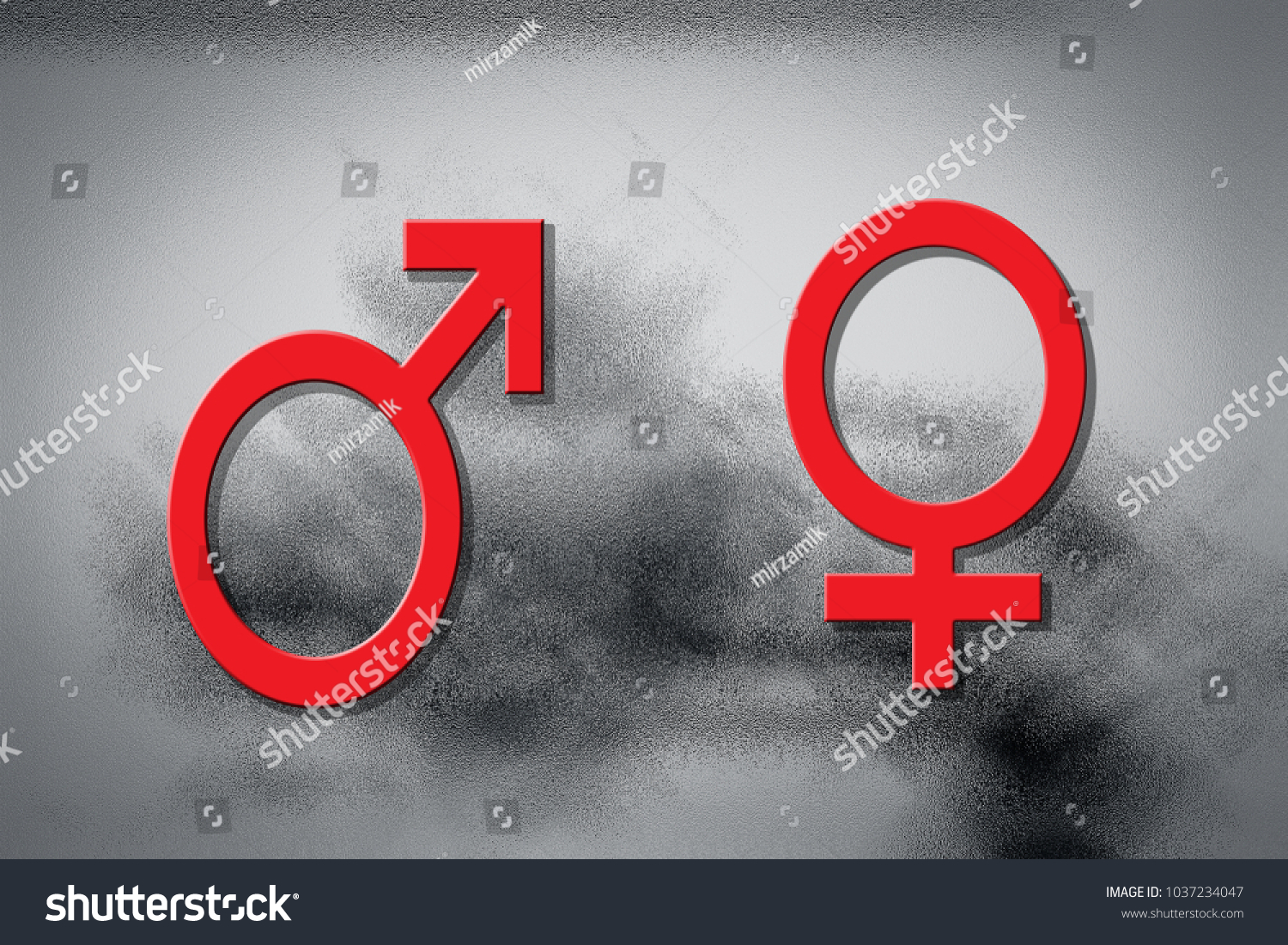 Mars symbol male venus female red stock photo 1037234047 shutterstock the mars symbol for male and the venus for female in red concept of love biocorpaavc Gallery