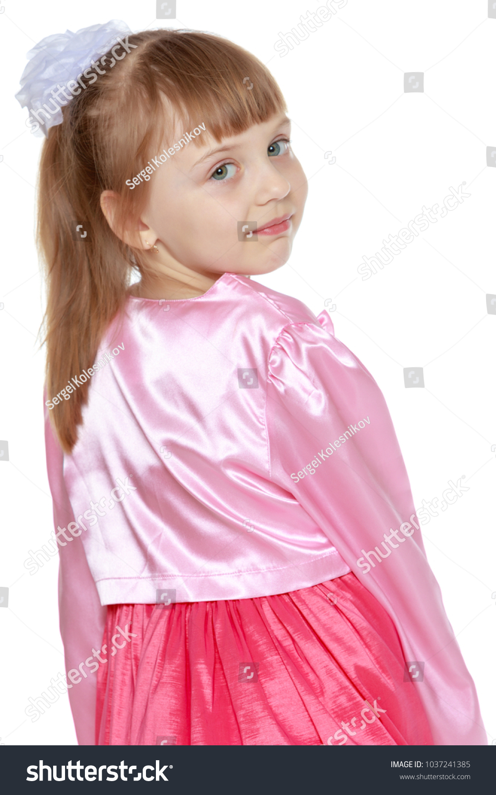 6f3298c4fc4 Beautiful Little Girl 6 Years Old Stock Photo (Edit Now) 1037241385 ...