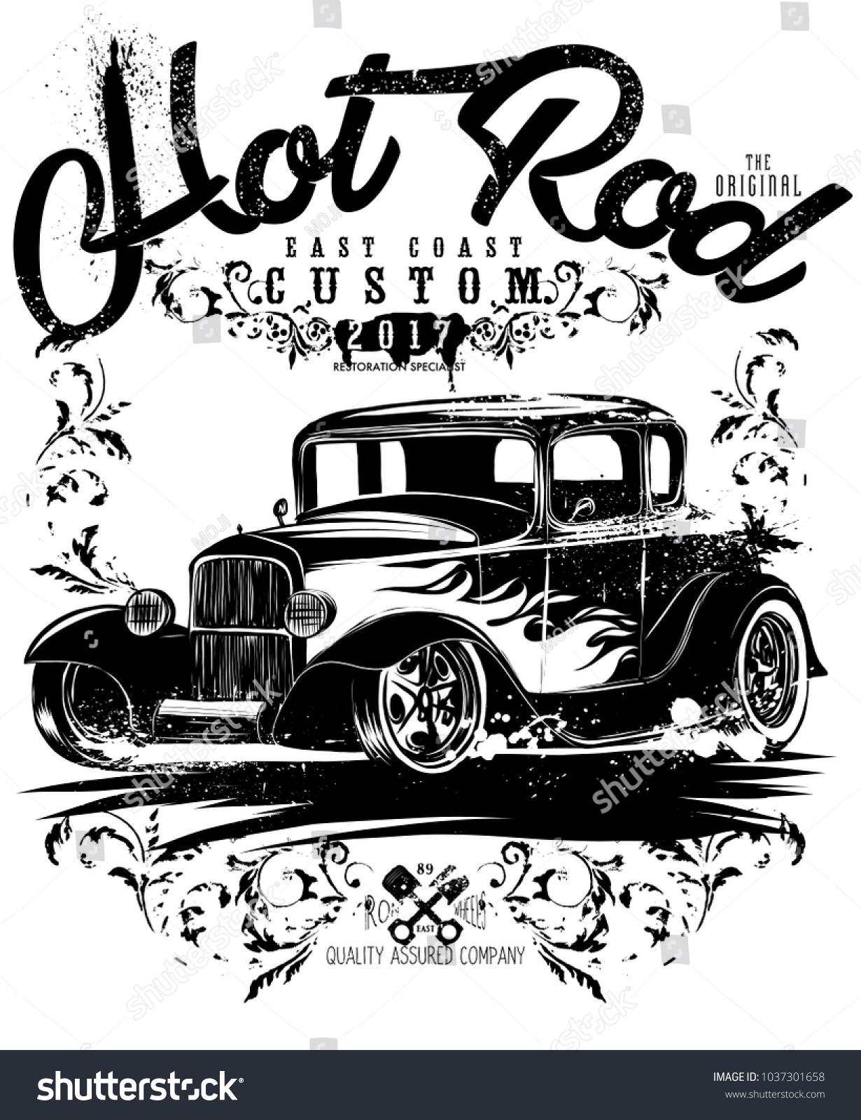 Hot Rod Classicshotrod Originalsloud Fast Racing Stock Photo (Photo ...