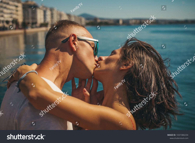 Couple Love Summer Day Sunglasses Honeymoon Stock Photo Edit Now 1037380234