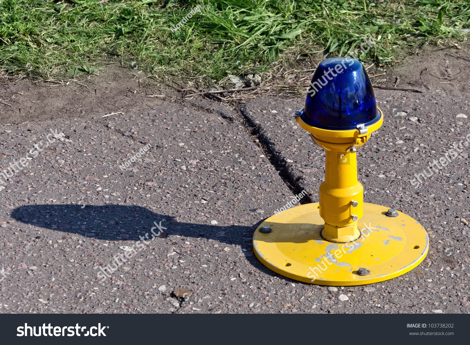 Airport Taxiway Edge Lighting Stock Photo 103738202
