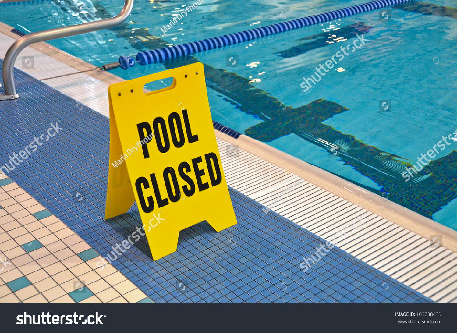 Warning Sign At The Edge Of Swimming Pool Stock Photo 103738430 Shutterstock