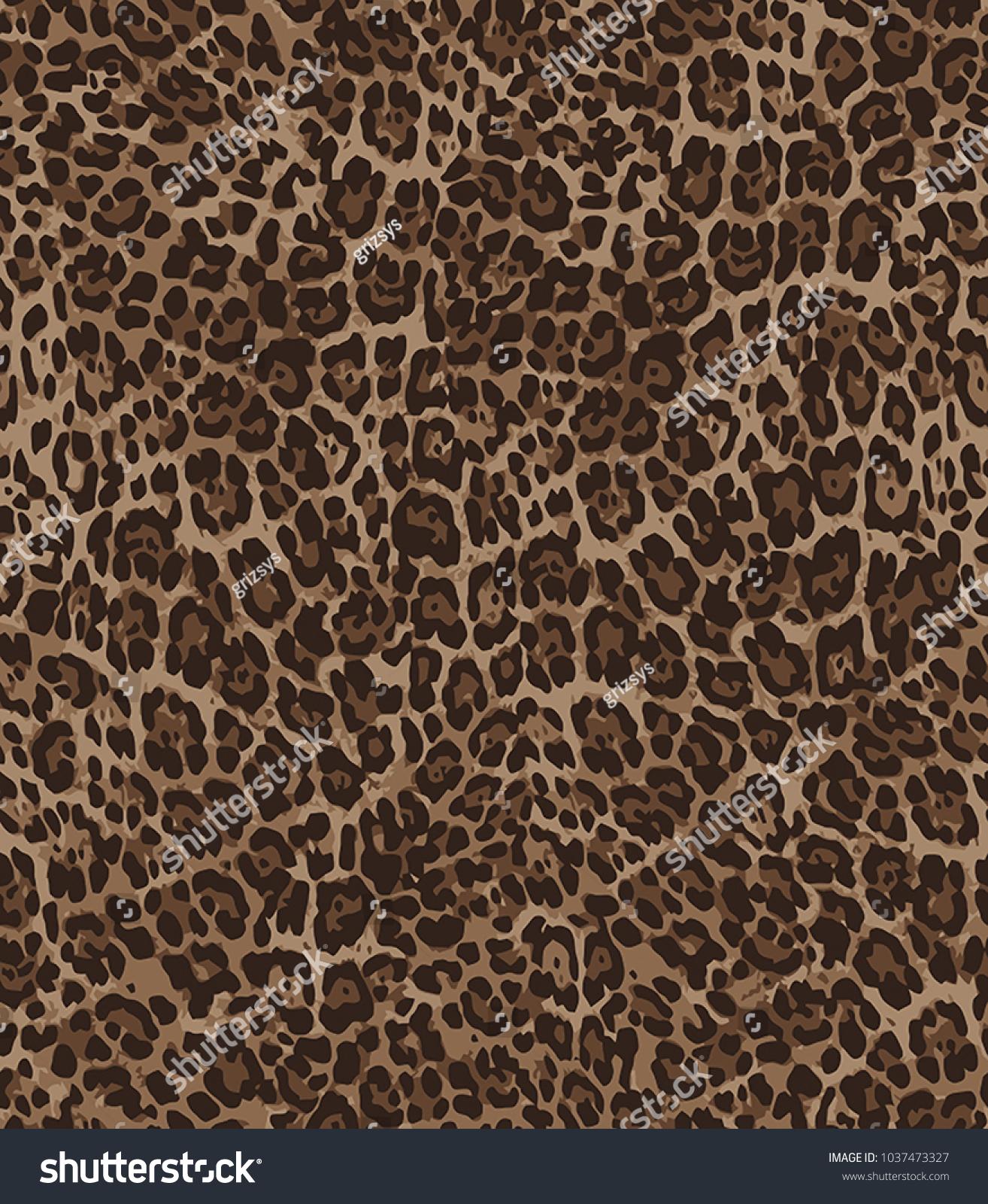 Animal skin leopard pattern in vector
