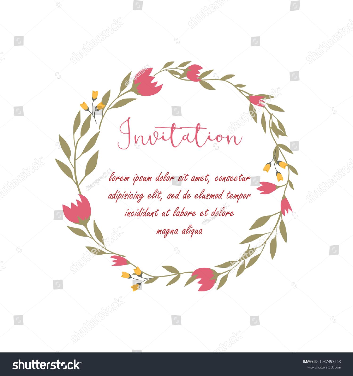 Wedding Anniversary Celebration Invitation Card Template Stock ...
