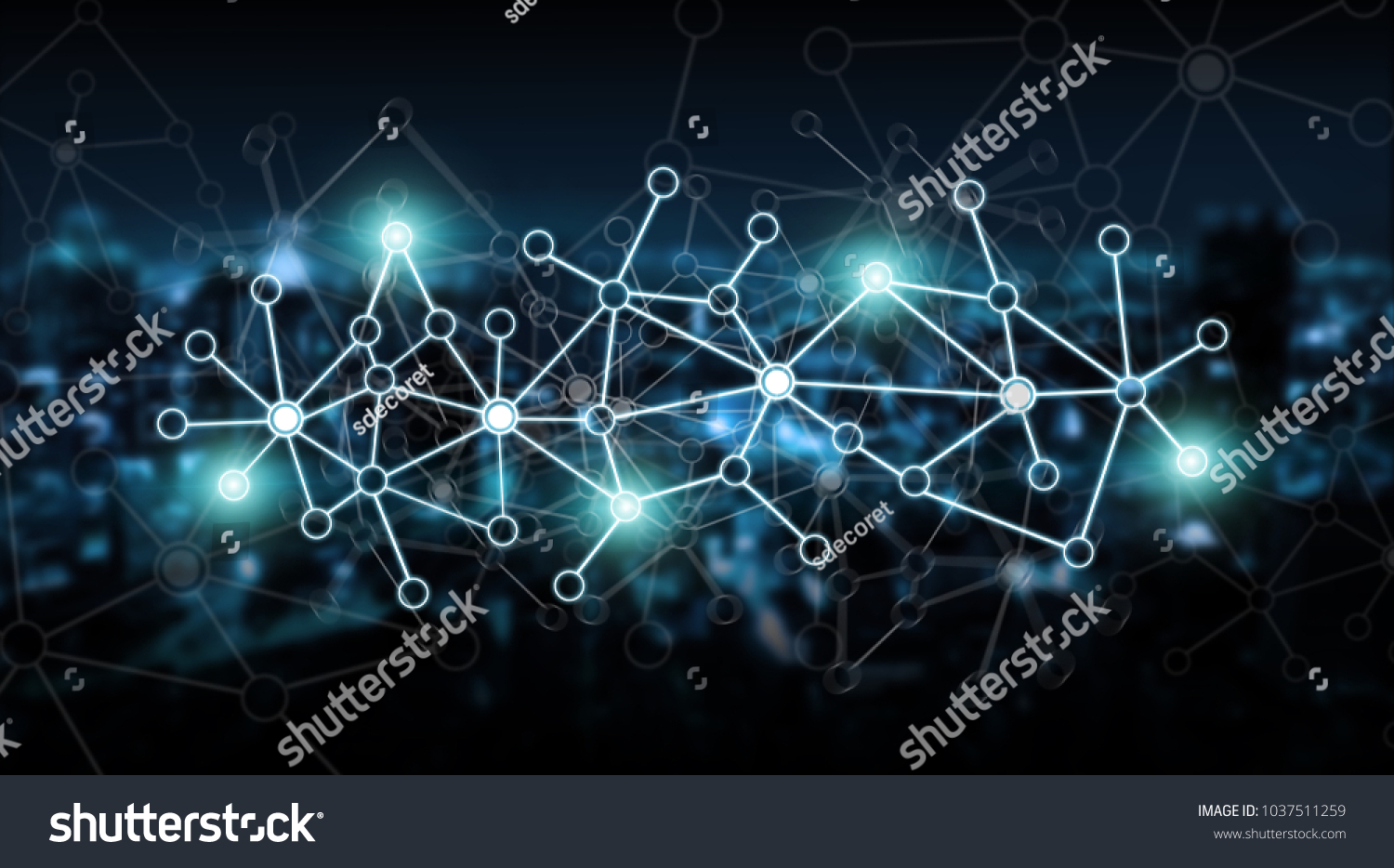 3D illustration. Abstract background, connection and lines of ...