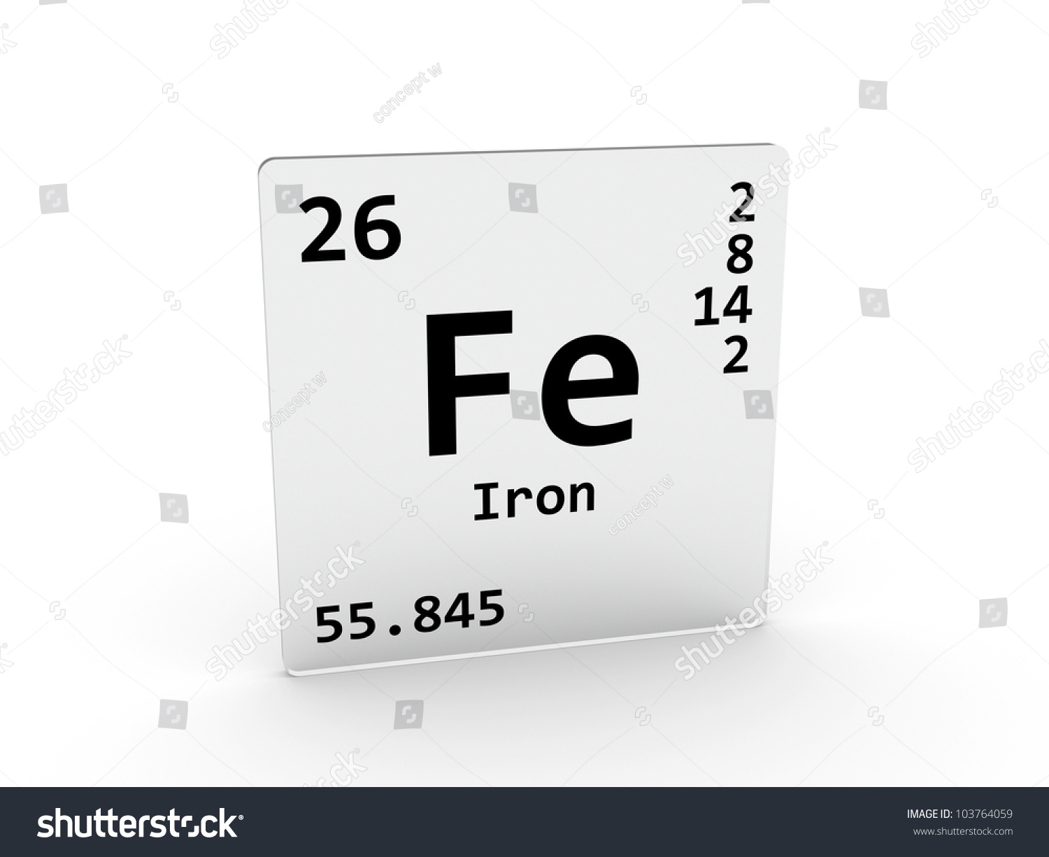 Iron Element Symbol Black And White Iron Symbol Fe Element...