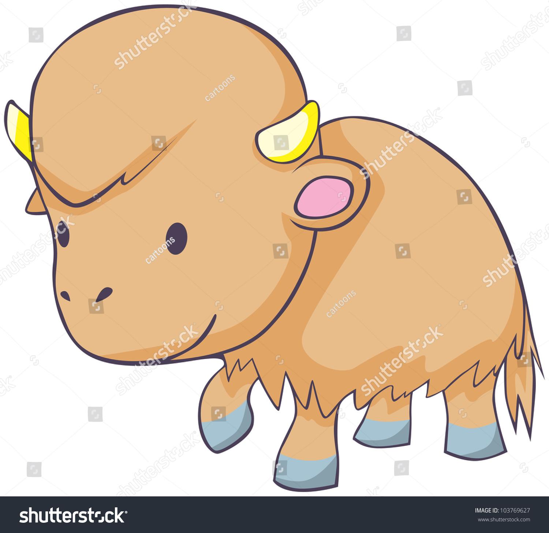 Cute water buffalo