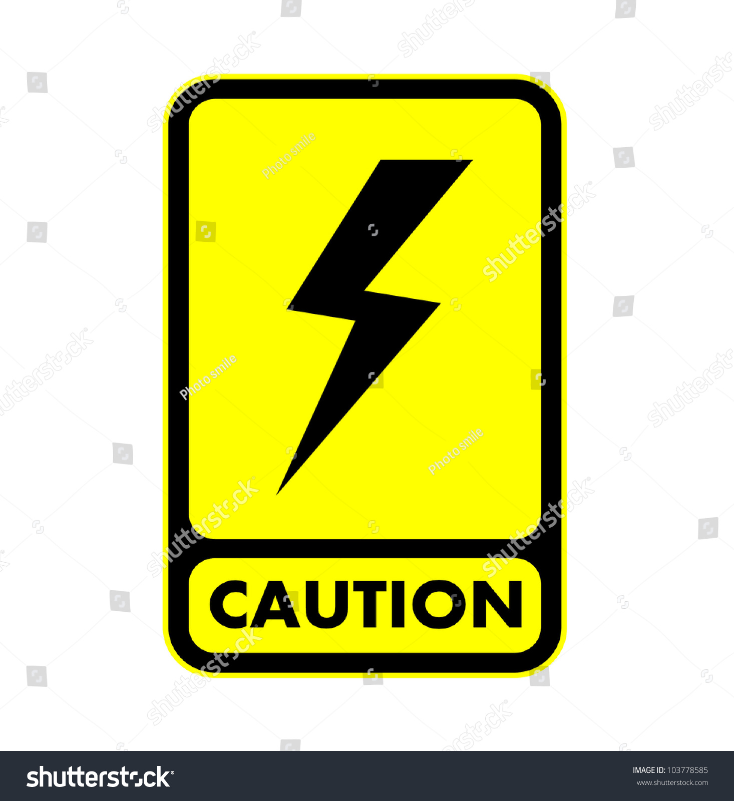 Electric shock caution plate vector eps10 stock vector 103778585 electric shock caution plate vector eps10 biocorpaavc Image collections