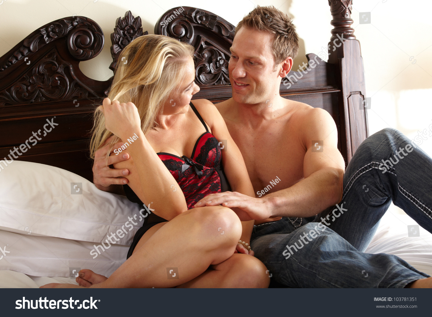 young fit caucasian adult couple embrace stock photo (edit now