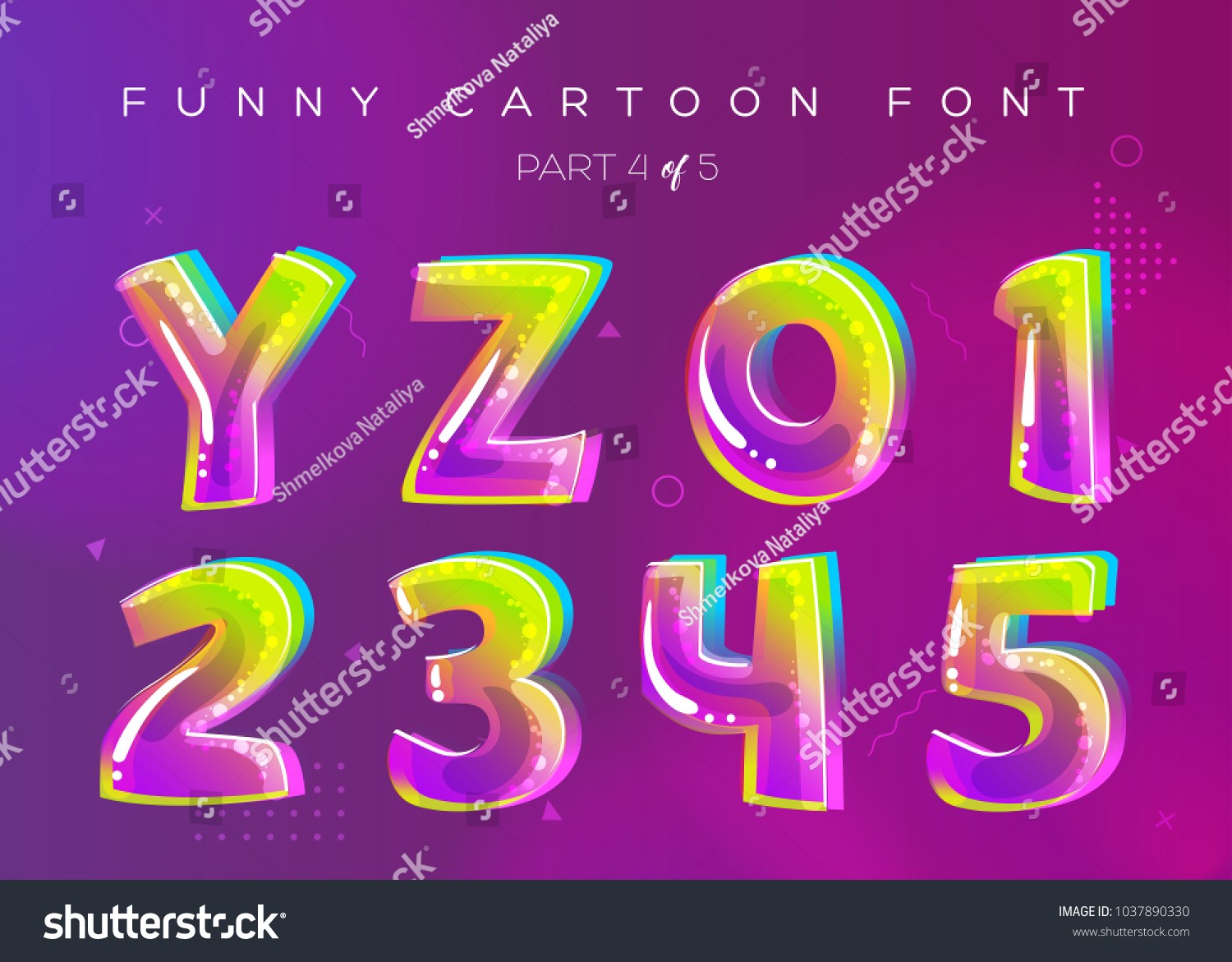 Kids vector font cartoon style bright stock vector royalty free kids vector font in cartoon style bright and colorful 3d letters school funny english thecheapjerseys Images