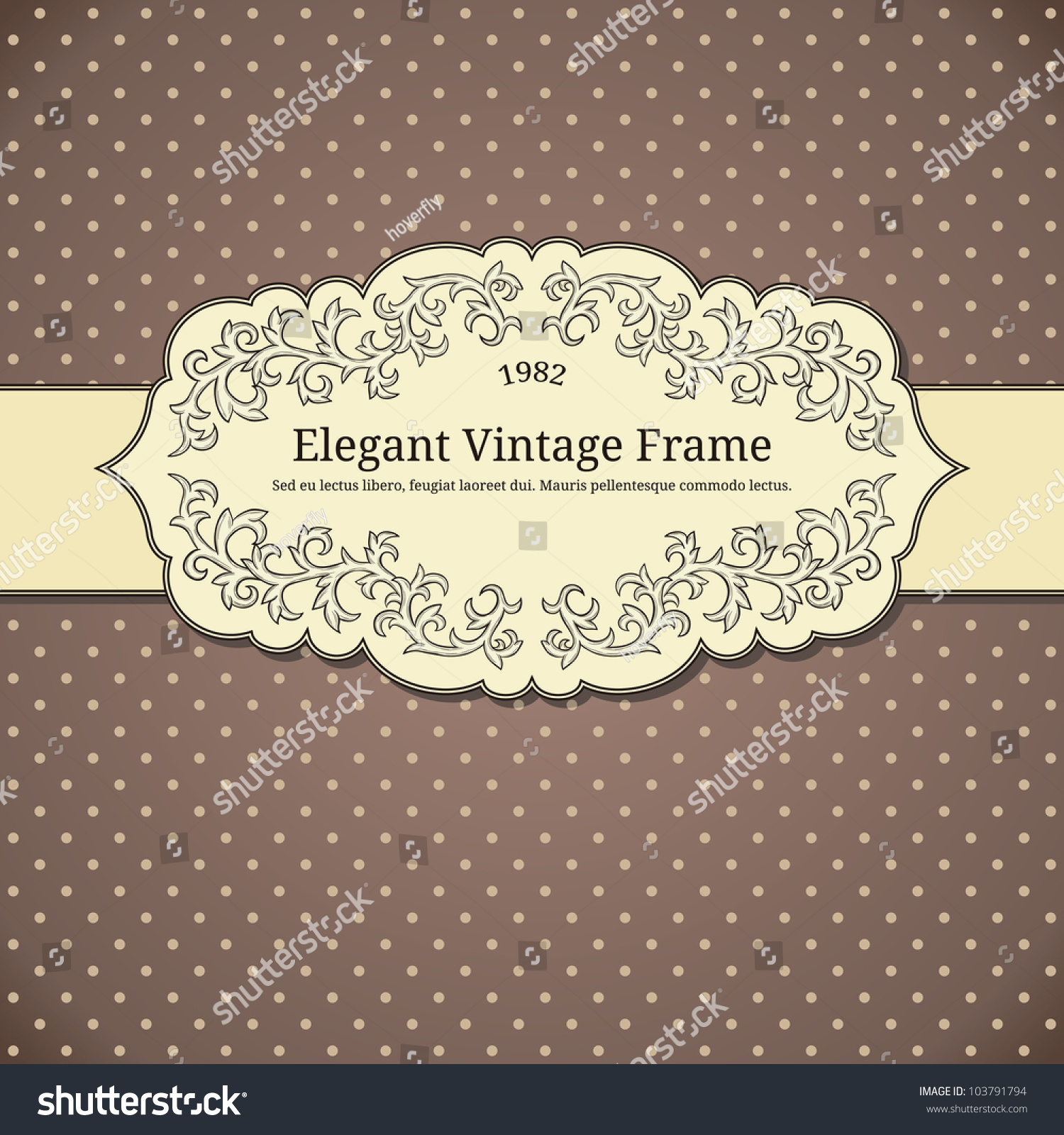 vintage background with polkadot stock vector