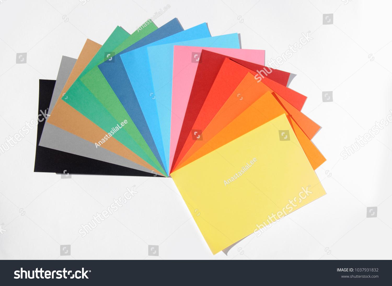 Color Chart Rainbow Paper Palette Stock Photo Edit Now 1037931832