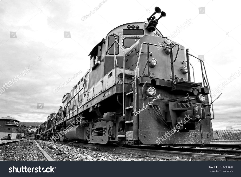 Diesel Electric Freight Train Engine Locomotive Stock ...
