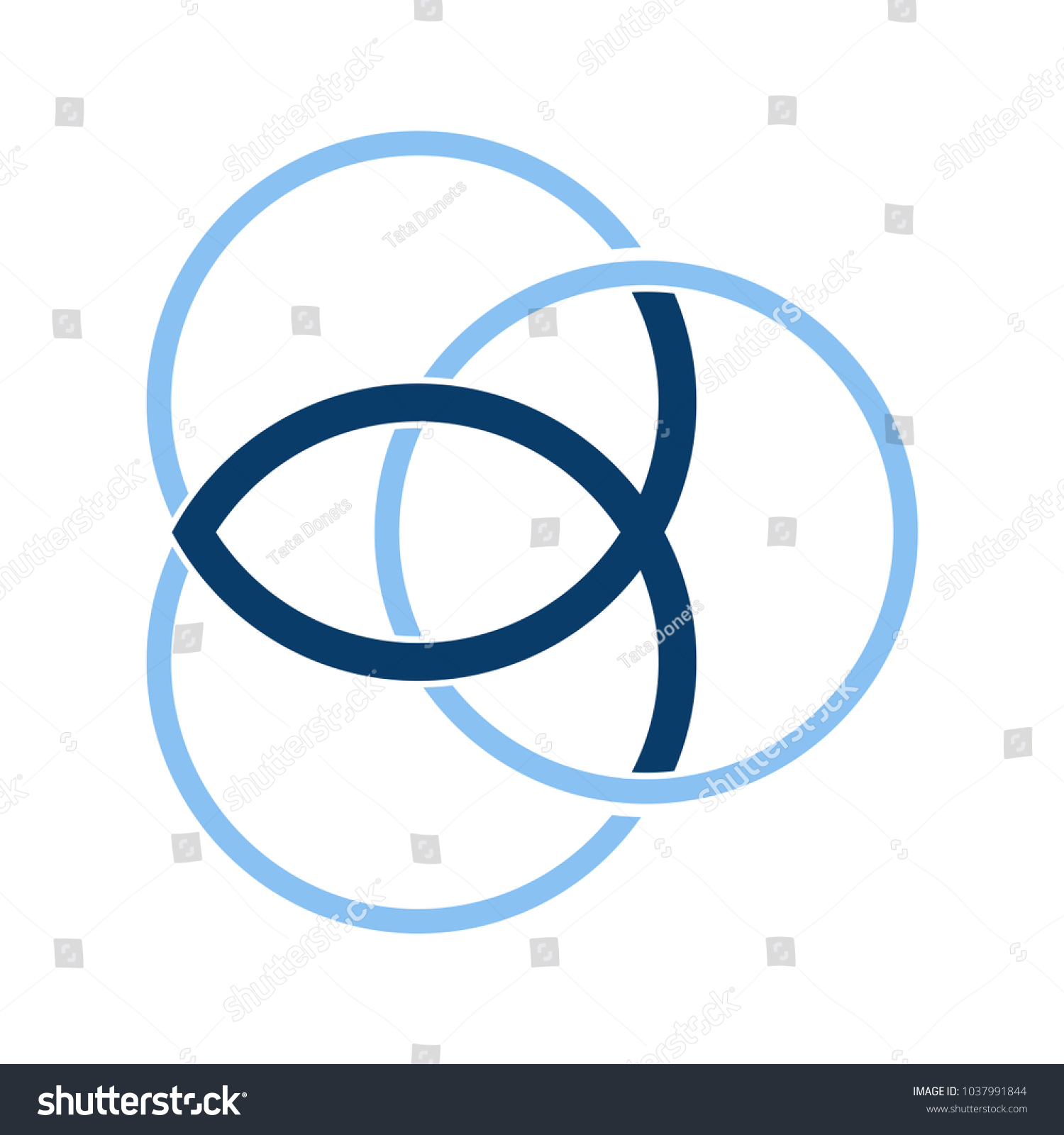 Vector symbol christian community trinity symbol stock vector vector symbol for christian community trinity symbol with christian fish known as ichthus or biocorpaavc Image collections
