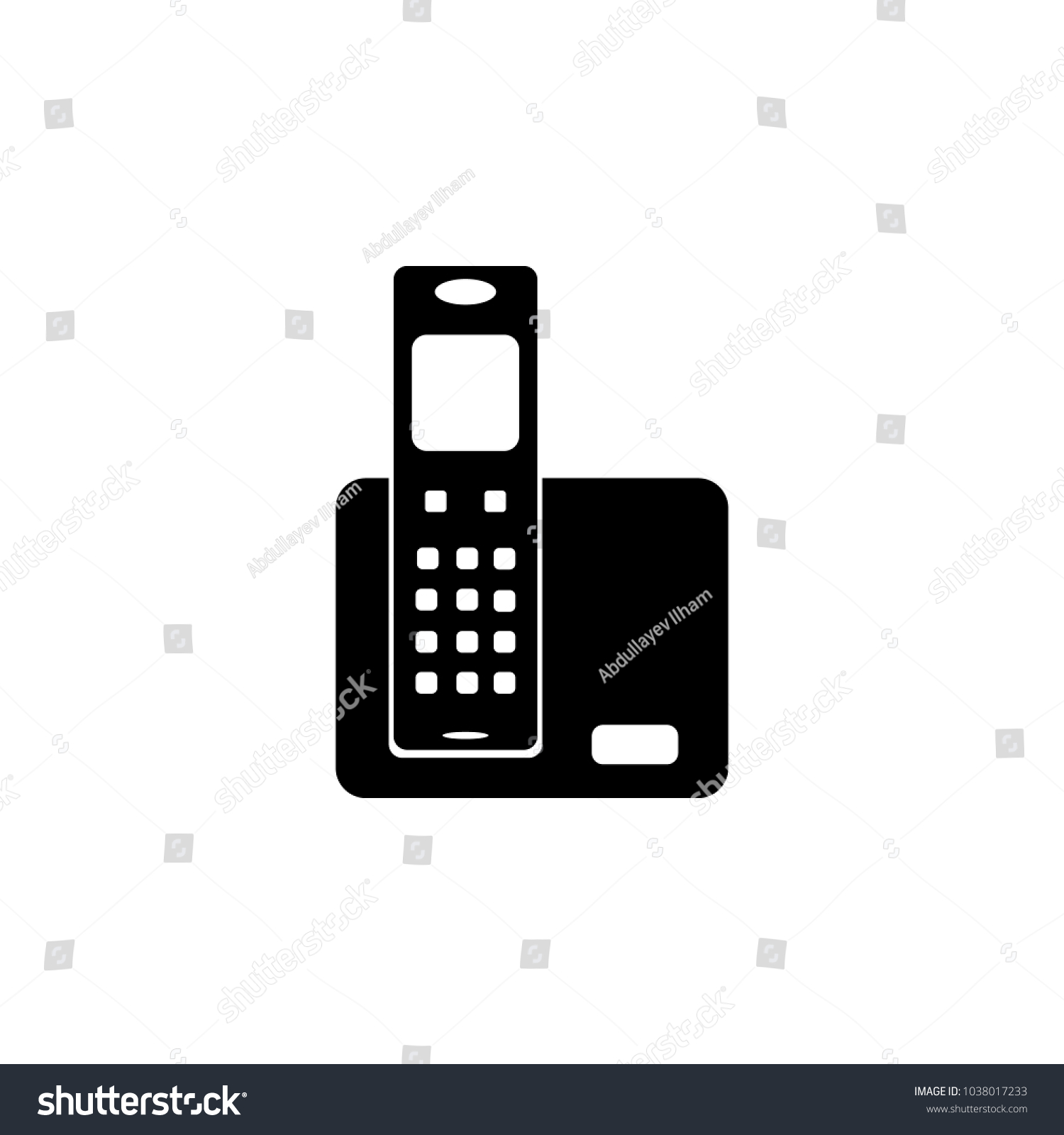 Home Phone Icon Element Popular Home Appliances Stock Illustration